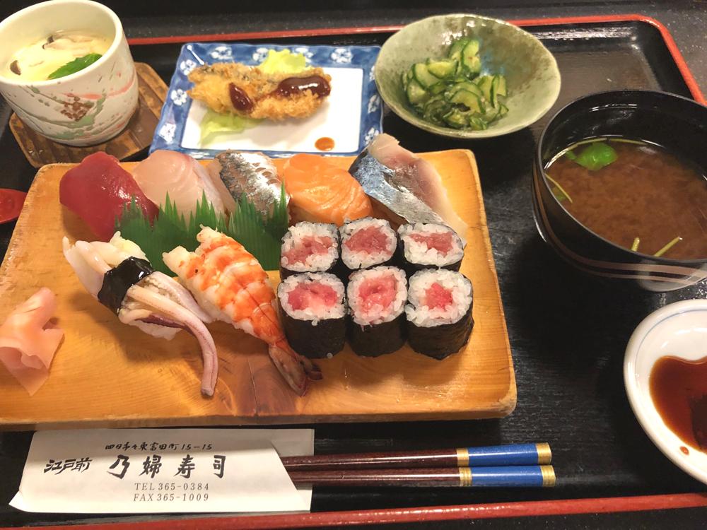お値打ちランチの乃婦寿司
